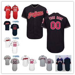 fcd394119 ... Custom 2017 Cleveland Indians Authentic Jerseys Stitched Cool base Flex  base Baseball Shirts Customized Gray White 2017 Cleveland Indians 2017 Mens  ...