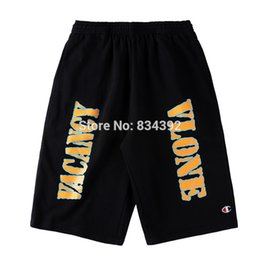 Barato Capuz Casual Masculino Casual-Atacado-2017 New Vlone Shorts Homens Knee Comprimento Shorts Vlone Joint Section Skates Men Homme Hood por Air Joggers HipHop Leisure Shorts
