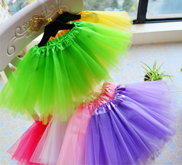 Costumes De Ballet En Robe Tutu Pas Cher-Best Match Baby Girls Enfants Dancing Tulle Tutu Jupes Pettiskirt Dancewear Ballet Dress Fancy Jupes Costume Livraison gratuite A-0415