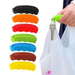 silicone bag handles 2019 - Random Color Bag Carrying Handle Tools Silicone Knob Relaxed Carry Shopping Handle Bag Clips Handler Kitchen Tools cheap
