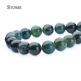 Wholesale Natural Moss Agate Round Loose Beads Gemstone MM For DIY and Jewelry Making S Stome