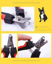 straight cutters NZ - BOBO BO BO Pets Cat Red Pet Dog Toe Nail Clipper Grooming Trimmer Cat Dog Scissors Stainless Steel Blade Cutter