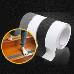 Discount rubber stickers - 5CM*50M Safe Anti Slip Stairs Tapes PEVA Rubber DIY Bathroom Anti Slip Stickers Warning Stripes Emergency Lines Wall Sti