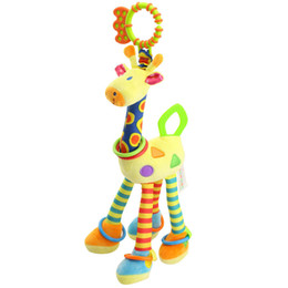 $enCountryForm.capitalKeyWord Australia - Quality deer plush toys bed baby mobile hanging baby shadow toy giraffe with bell ring infant teether toys Christmas gift