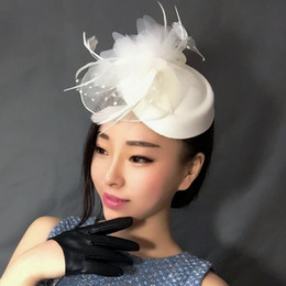 $enCountryForm.capitalKeyWord NZ - Free Shipping Hot Sale black Bird cage Net Wedding Bridal Fascinator Hats Face Veil Ivory black Flower for party accessory