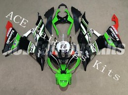 Red Black Kawasaki Zx6r NZ - Three free beautiful gift new high quality ABS Injection fairing plates for Kawasaki Ninja ZX6R 599 636 2013-2016 body black red green no.66