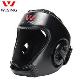 Protector kick boxing online shopping - Fitness Supplies Boxing Head Protector Wesing Sanda Training Headgear Boxing Head Guard Training Helmet Kick Boxing Protection Gear