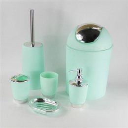 discount bathroom accessories sets sale hot sales 6pcs set bathroom accessory set soap dish dispenser tumbler