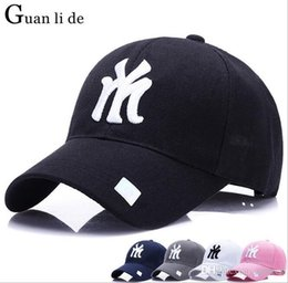 ae84666a36ef9 Guanlide Letter M Solid Baseball Caps Men Women Outdoor Trucker Cap Full  Closed Dad Hats Male Brand Sport Gorras Cap Bones