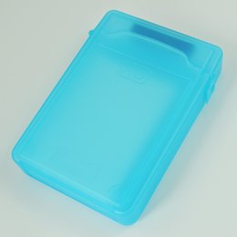 sata hdd storage 2019 - Wholesale- GTFS-Hot Sale Blue 3.5inch IDE SATA HDD Storage Box Case Enclosures HDD Polypropylene Boxs cheap sata hdd sto