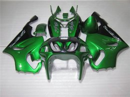 KawasaKi motorcycle fairing Kits zx7r online shopping - Bodywork Fairing kit for Kawasaki Ninja ZX7R green black motorcycle fairings set ZX7R OY04