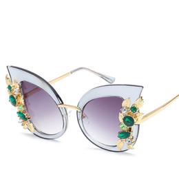 Usa Sunglasses Canada - Golden Frame USA Popular Gemstone Shade Sunglasses Women Eye Cat New Style Glasses Female Driving Mirror Eyewear Pilot Sun Glasses