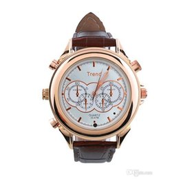 Hd video recording watcH online shopping - Fashion watch Cameras GB GB Waterproof leather Watch Camera HD Watch Video Audio Recording Mini DV DVR With retail box