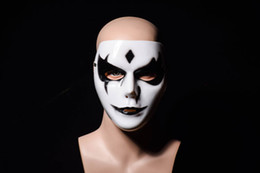 $enCountryForm.capitalKeyWord NZ - Free Ship Hip-Hop GHOST DANCE Mask Hand painted White Popping Face Masque Halloween Party Carnivals Adjustable Strap Mask For Man and Women