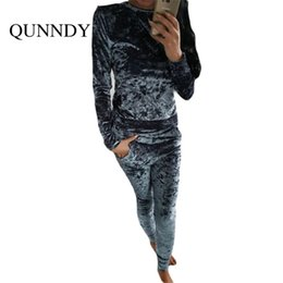 $enCountryForm.capitalKeyWord Canada - Wholesale- fitness Velvet Jumpsuit rompers UKraine 2017 women tracksuit long sleeve soild Two Piece jumpsuits combinaison femme plus size