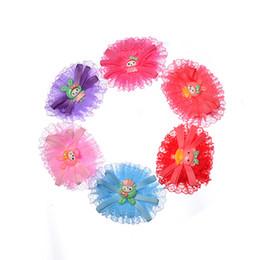 hair ribbons flowers small 2018 - Children handmade headdress silk knit hair accessories cartoon small princess head flower combination accessories wholes