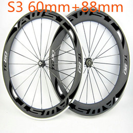 china road bike carbon Australia - Cheap china carbon wheels clincher shiman 11s front 60mm rear 88mm alloy carbon wheels basalt surface wheels powerway hubs free shipping