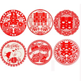 $enCountryForm.capitalKeyWord Australia - Chinese Wedding Double Happiness Sticker Wedding Wall Decorations