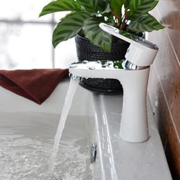 Discount wall mount bathroom sinks - Wholesale- Superfaucet Bathroom Faucet White,Bathroom Faucet,Mixer For Bathroom,Bathroom Sink Faucet,Water Faucet HG-100