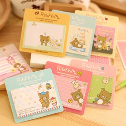 online shopping MQStyle New Cute Rilakkuma Bear Sticky Notes Creative Cartoon Design Messages Posted Multifunction Memo Pad Book H0278