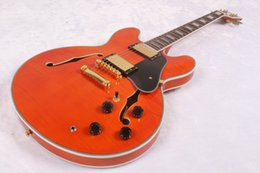 $enCountryForm.capitalKeyWord NZ - custom made 2017 Guitar classic 335 orange red block inlays fretboard electric guitar new arrival
