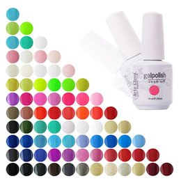 Base Gel Uv Baratos-Venta al por mayor- Precio especial 15ml Arte Clavo Cualquier Color Gel de uñas a granel Gel UV Top Base Coat Nail Polish al por mayor