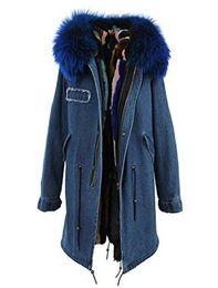 $enCountryForm.capitalKeyWord UK - JAZZEVAR brand 100% rabbit fur lining long demin canvas parkas Liner Detachable women snow black army coats as mrs style