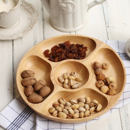 $enCountryForm.capitalKeyWord Canada - Would Round Fruit Bowl Tableware with Portioned Compartments High Quality Wooden Fruit Plate Container