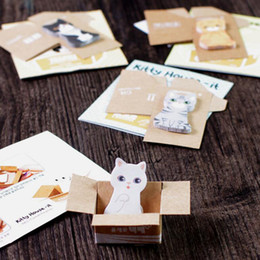 MeMo pad set online shopping - High Quality sets kawaii Bookmark Mark Tab Memo Sticky Notes Cute Cat Memo Pads School Office Supplies Stationery Student gifts