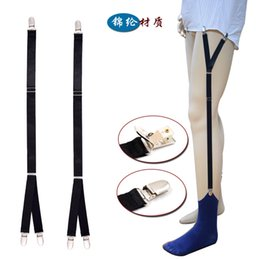 Camisa dos homens novos permanece ligas suspensórios para camisas cavalheiro perna cintas moda homens camisa suspensórios liga titular negócio
