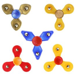 spinner toys 2019 - 2017 Tri-Spinner Fidget Toy Plastic EDC Fidget Hand Spinner For Autism and ADHD Rotation Time Long Anti Stress Toys Focu