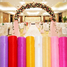 $enCountryForm.capitalKeyWord NZ - 23 Colors Fashion Ribbon Roll Organza Tulle Yarn Chair Covers Accessories For Wedding Backdrop Curtain Decorations Supplies 50m roll