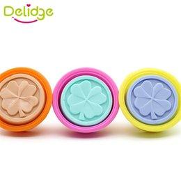 silicone leaf mould NZ - Delidge 1 pcs Four Leaf Clover Soap Mold Silicone Handmade Soap Mold Crafts DIY Ice Mold Moon Cake DIY Chocolate Moulds