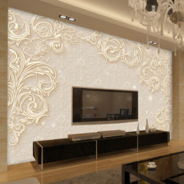 Custom Wedding Backdrops NZ - Custom Photo Wall Paper 3D Stereo Minimalist Modern Living Room TV Backdrop Mural Environmental Protection Non-woven Wallpaper