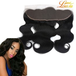Chinese  Best Body Wave Lace Frontal Closure Bundles 100% Human Hair Unprocessed Brazilian Body Wave Ear To Ear 13x4 Lace Frontal Free Shipping manufacturers