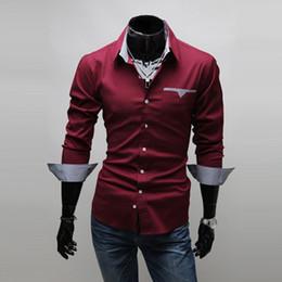 Burgundy Dress Shirt Men Online | Burgundy Dress Shirt Men for Sale
