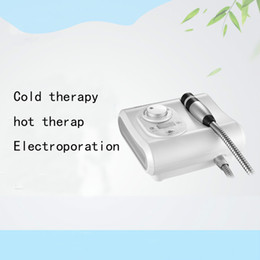 portable needle mesotherapy 2019 - Portable 2 in 1 Cryo No Needle Electroporation Mesotherapy Skin cool Facial Anti Aging Skin Care Machine cheap portable
