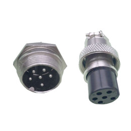 Chinese  5 Sets kits 6 PIN 16mm GX16-6 Screw Aviation Connector Plug The aviation plug Cable connector Regular plug and socket manufacturers
