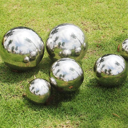 AISI 304 Stainless Steel Hollow Ball Mirror Polished Shiny Sphere For  Outdoor Such As Garden Lawn Pool Fence Ornament And Decoration