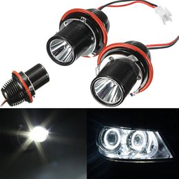 angel eyes bulbs 2018 - Audew 2PCS 10W LED MARKER ANGEL EYE HALO RING LIGHT BULB FOR BMW E39 E53 E60 E63 E64 E66 E83 discount angel eyes bulbs