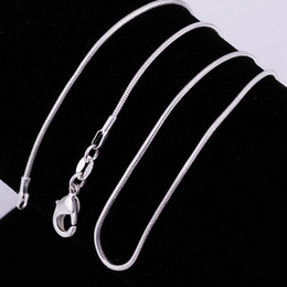 $enCountryForm.capitalKeyWord Canada - 925 Sterling silver smooth snake Chains Necklaces For women Fashion Jewelry Lobster clasp 1MM Snake chain Size 16-30 inch Hot sale