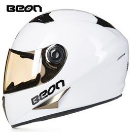 Full Atv Canada - Wholesale- BEON Four Seans Full Face Classic Motorcycle Go kart helmet MTB ATV Motorbike headguard casque casco capacete