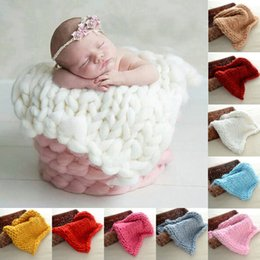 Free Knitted Baby Blankets Canada - New Born Baby Boy Girls Flannel Blankets Air Conditioning Knitting Blanket Baby Kids 9 Colors Nursery Bedding Blanket Free Shipping
