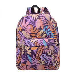 Chinese  Outdoor Bags Both Shoulders Canvas Travel Sports Leaf Style Schoolbag For Middle School Students Fashion Female Models Bags 17ba J1 manufacturers