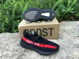 Super Boost Pas Cher-Vente en gros Super Me Boost 350 Boost V2 Sply 350 Noir Blanc Noir Peach Hommes Femmes Chaussures de course Kanye West Boost 350 Season With Box