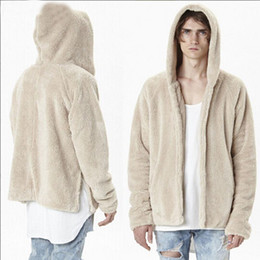 Barato Casaco De Pele De Cashmere Mens-2017 XL Men Coat Moda Oversized Mens Hoodie Casacos Brand Designer Clothes Cashmere Coat Fur Collar Open Stich Swag