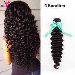 Hair Straightening Products Wholesale NZ - Indian Curly Virgin Hair Indian Deep Wave 4 Bundles Rosa Hair Products Unprocessed Virgin Indian Human Hair Extension