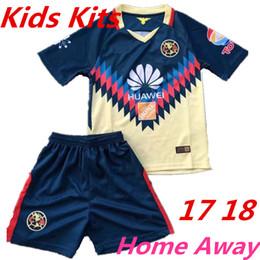 308f41faa1588 kids kits 2017 mexico club america soccer jerseys 17 18 C.BLANCO home away  D.BENEDETTO R.SAMBUEZA America football shirt kit 2018 ...