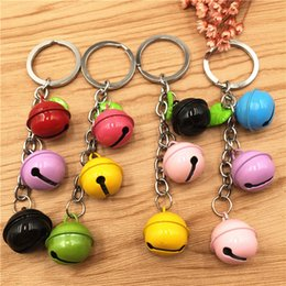 small child toy car NZ - 24 pcs  lot mixed color Mini Key Chain small bell Toy for Children free shipping