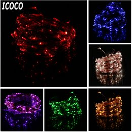 wholesale icoco high quality 10m super long 100 leds copper wire lights 8 modes indoor outdoor home decorative wedding party string light long led